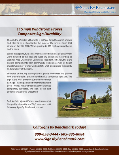 Signs By Benchmark sign withstands hurricane winds