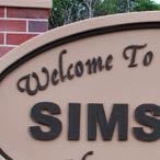 Simsboro Welcome Sign