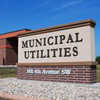 Watertown Municipal Utilities monument foam sign