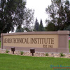 Circular arch monument sign for Lake Area Technical Institute