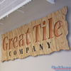 Great Tile Company interior wall mount foam sign