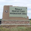 Signs By Benchmark monument sign for Pelican Lake Recreation Area South Dakota Parks and Recreation