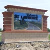 Signs By Benchmark monument sign for St. Lawrence SD city entrance sign