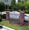 EIFS brick monument sign for The Grove