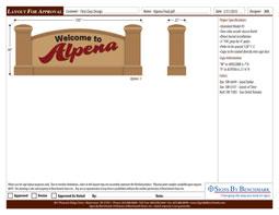 Alpena Signage Color Rendering