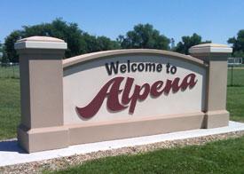Installed Alpena Signage