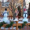 Cellular plastic foam snowmen