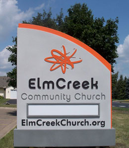 Elm Creek Church Sign