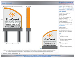 Elm Creek Community Church Sign Design