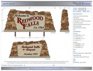 Redwood Falls Community Sign Rendering