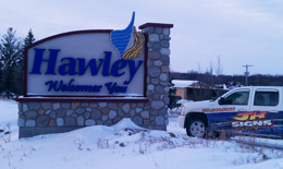 Hawley Community Welcome Signage & JH Signs