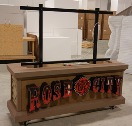 Rose City Display in production