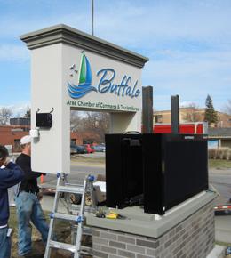 Buffalo Chamber Sign Install 2