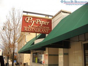 Signs By Benchmark - PJ Piper Restaurant Projecting Sign