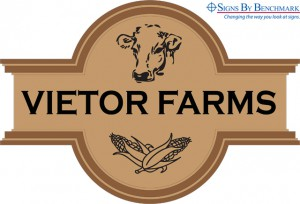 Graphic Design of Vietor Farms pylon sign