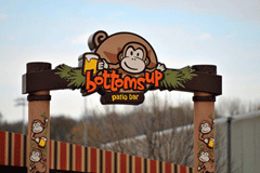 Signs By Benchmark Monkey pylon sign top panel