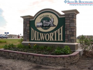 Signs By Benchmark monument sign for Dilworth Minnesota