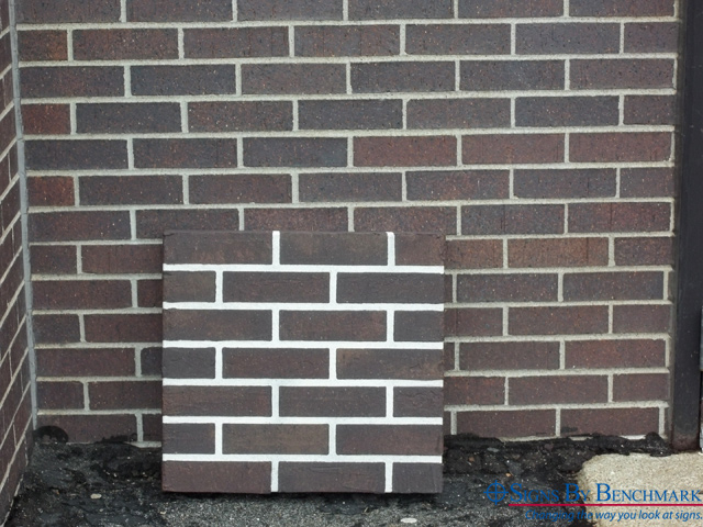 Wonderful Signs By Benchmark Faux Brick Panel Matches Original Brick