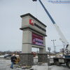 Thirty Foot Integrated EMC Pylon Sign Displays Imposing Impact