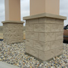 EIFS brick sign pole covers