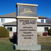 EIFS stone sign pole cover