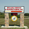 EIFS stone sign pole covers