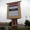 EIFS brick sign pole cover