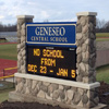 Signs By Benchmark EIFS river rock integrated school sign