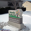Custom Monument sign with logo