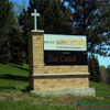 EIFS brick integrated church sign