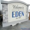 EIFS stacked stone community entrance welcome sign