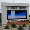 School sign with integrated EMC