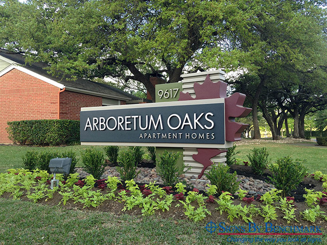 Prefabricated_Monument_Sign_Foam_Core_Arboretum_Oaks_Texas