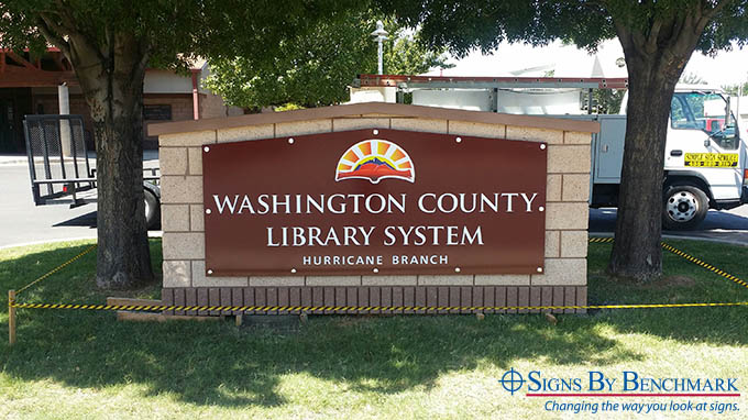 Custom Monument Sign Keeps Consistent Brand While Matching Existing Exteriors