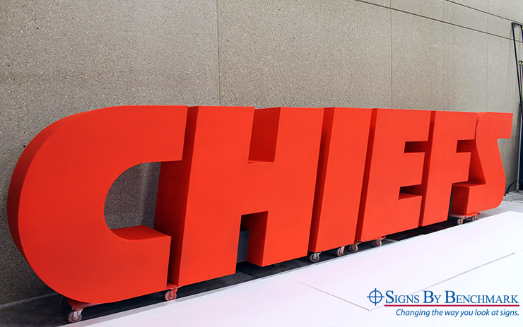 Chiefs Mobile Letters in Production